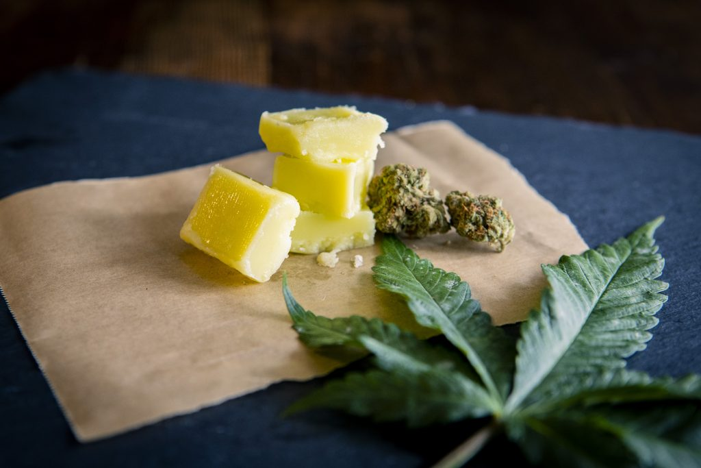 Cannabutter made with cannabis and butter