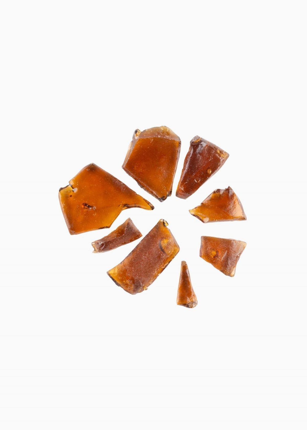 Abcann Medicinals Fireside X Shatter - Glueberry