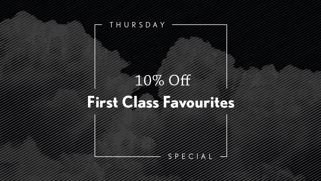 10% Off First Class Favourites